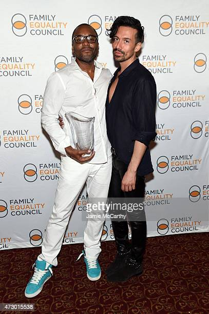 Lee Daniels and Jahil Fisher attend the Family Equality Council's 2015 Night At The Pier at Pier 60 on May 11 2015 in New York City