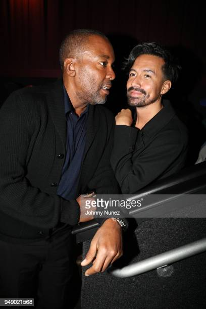 Lee Daniels and Jahil Fisher attend the Pimp Private Screening at Regal Battery Park Cinemas on April 19 2018 in New York City