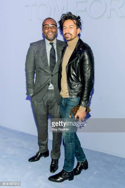 Lee Daniels and Jahil Fisher attend the Tom Ford Fall/ Winter 2018 Men's Runway Show at Park Avenue Armory on February 6 2018 in New York City