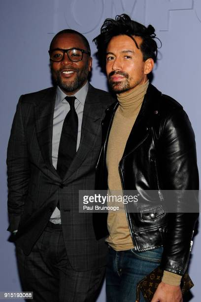 Lee Daniels and Jahil Fisher attend the Tom Ford Men's Arrivals February 2018 New York Fashion Week at Park Avenue Armory on February 6 2018 in New...