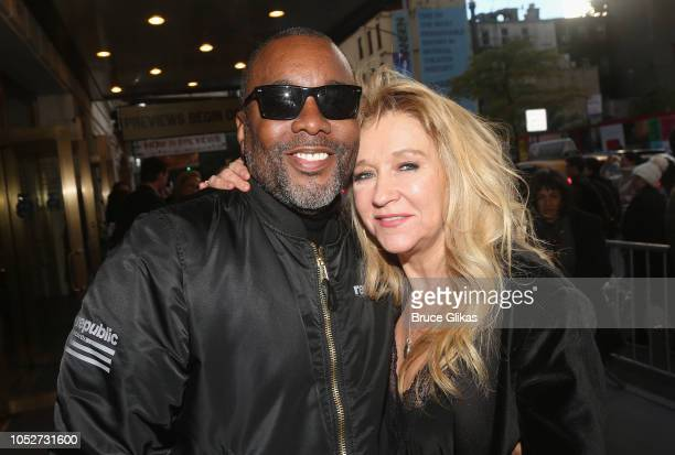 Lee Daniels and Producer Sonia Friedman pose at the opening night of the new play The Ferryman on Broadway at The Bernard B Jacobs Theatre on October...