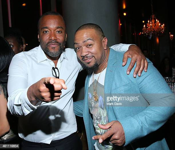 Lee Daniels and Timbaland attend the after party of Fox's 'Empire' held at ArcLight Cinemas Cinerama Dome on January 6 2015 in Hollywood California