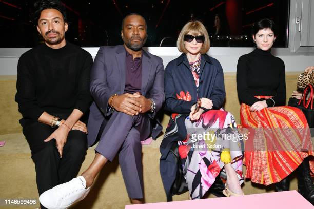 Lee Daniels Anna Wintour an Ellie Wintour attend the Prada Resort 2020 fashion show at Prada Headquarters on May 02 2019 in New York City