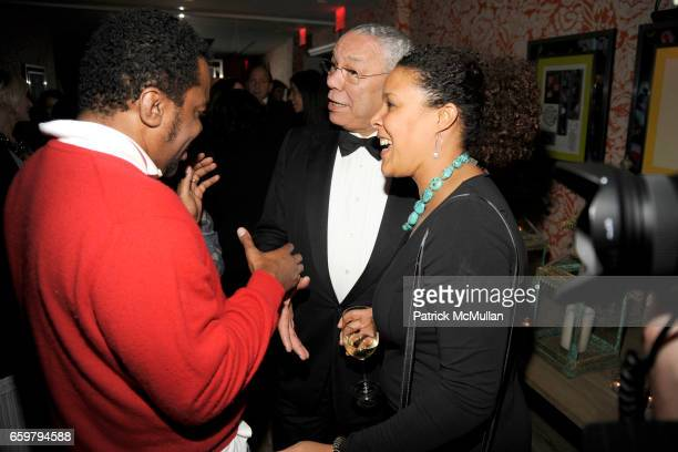Lee Daniels General Colin Powell and Linda Powell attend THE CINEMA SOCIETY TOMMY HILFIGER host the after party for PRECIOUS at Crosby Street Hotel...