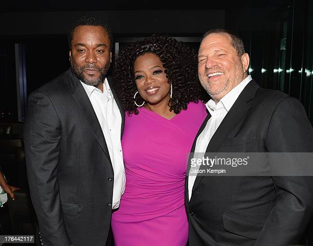 Lee Daniels Oprah Winfrey and Harvey Weinstein attend the Los Angeles premiere afterparty of 'Lee Daniels' The Butler' at WP24 Restaurant and Lounge...