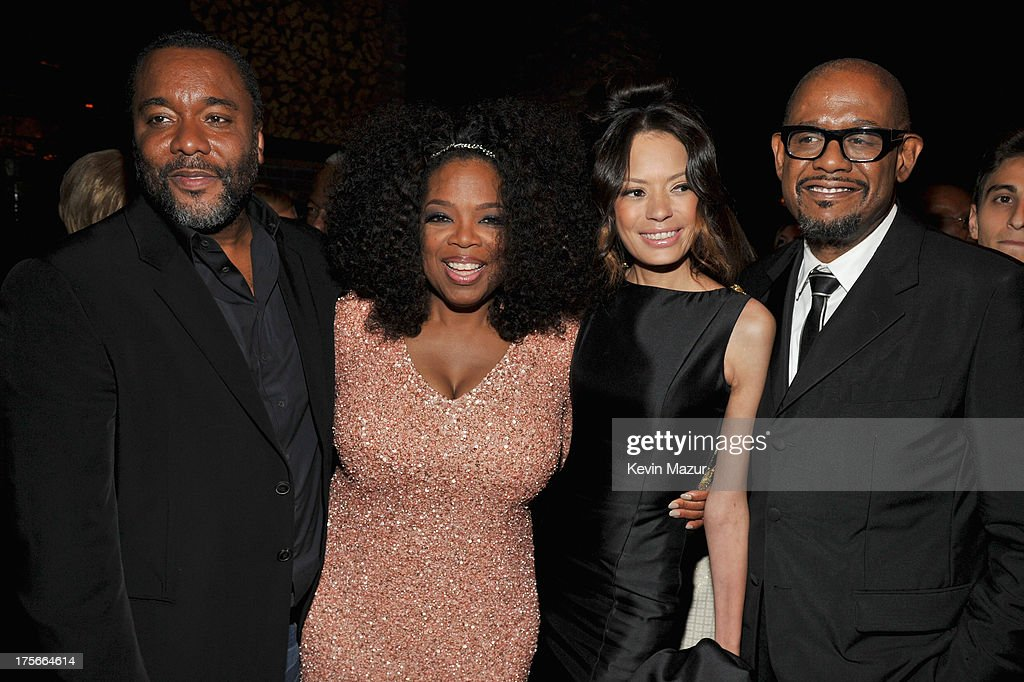 Lee Daniels, Oprah Winfrey, Keisha Whitaker and Forest Whitaker attend Lee Daniels' 'The Butler' New York premiere, hosted by TWC, DeLeon Tequila and Samsung Galaxy on August 5, 2013 in New York City.