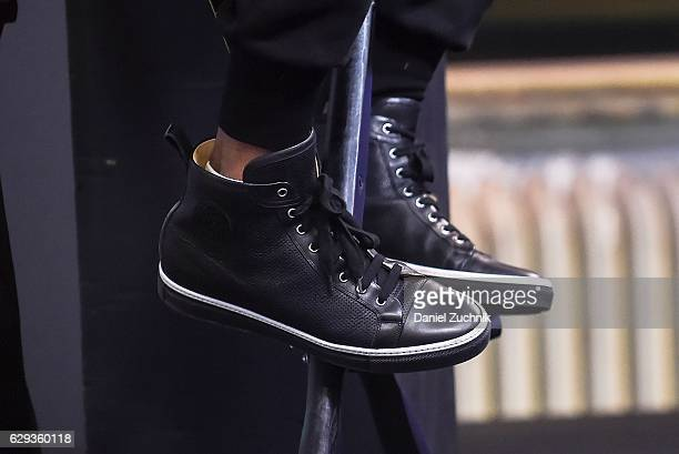 Lee Daniels sneakers detail attends AOL Build to discuss his show 'Star' at AOL HQ on December 12 2016 in New York City