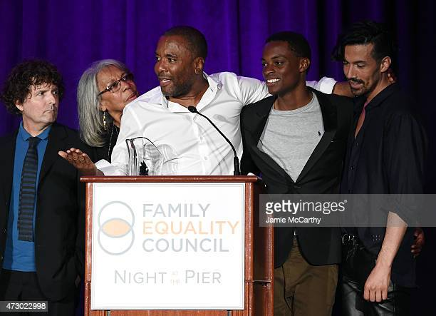 Lee Daniels speaks onstage with Billy Hopkins Clara Mae Daniels Liam Daniels and Jahil Fisher during the Family Equality Council's 2015 Night At The...
