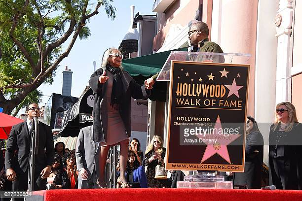 Lee Daniels with his mother Clara Watson attend the ceremony honoring Lee Daniels with a Star on the Hollywood Walk of Fame on December 2 2016 in...