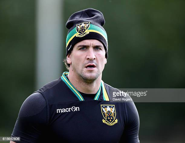 Lee Dickson looks on during the Northampton Saints training session held at Franklin's Gardens on October 19 2016 in Northampton England