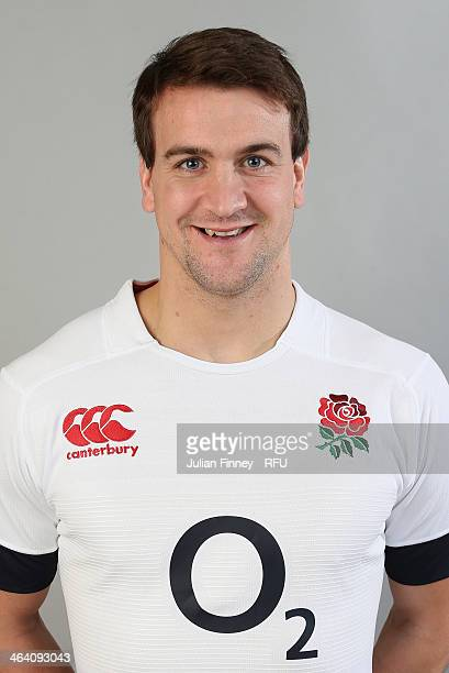 Lee Dickson of England poses for a portrait during the England Six Nations Squad Photo Call at the Penny Hill Hotel on January 20 2014 in Bagshot...