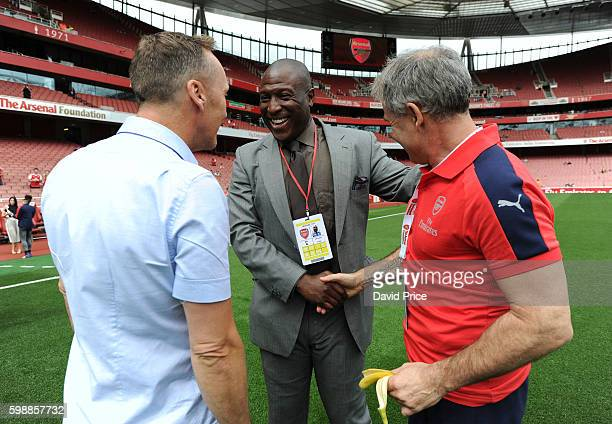 Lee Dixon Kevin Campbell and Anders Limpar of Arsenal Legends before the Arsenal Foundation Charity match between Arsenal Legends and Milan Glorie at...