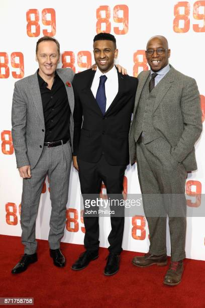 Lee Dixon Ryan Rocastle and Ian Wright arriving at the '89' World Premiere held at Odeon Holloway on November 8 2017 in London England