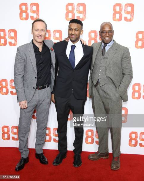 Lee Dixon Ryan Rocastle and Ian Wright attends at the 89 World Premiere held at Odeon Holloway on November 8 2017 in London England