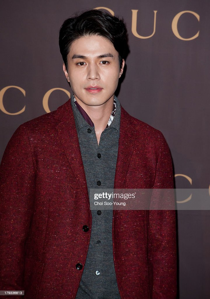 Lee DongWook attends the GUCCI 'House of Artisan' at GUCCI Cheongdam flagship store on August 30 2013 in Seoul South Korea