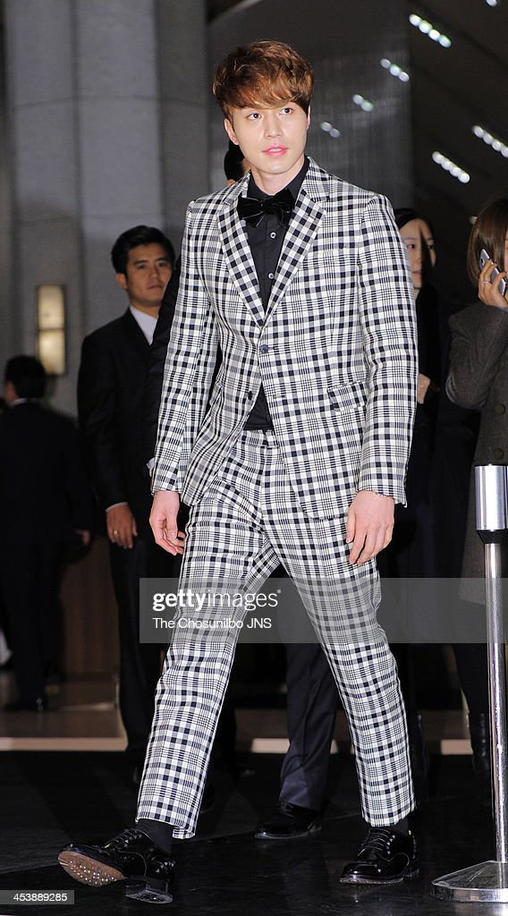 Lee DongWook attends the Omega 'Ladymatic' launch at the Shilla Hotel on December 5 2013 in Seoul South Korea