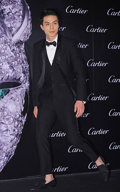 Lee DongWook poses for photographs during the Cartier 'Panthere de Cartier' jewelry event at Sheraton Grande Walkerhill on October 16 2014 in Seoul...