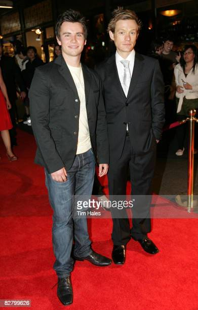 Lee Donoghue and Adam Rickitt arrive at the Qantas New Zealand Television Awards at the Civic Theatre on September 13 2008 in Auckland New Zealand