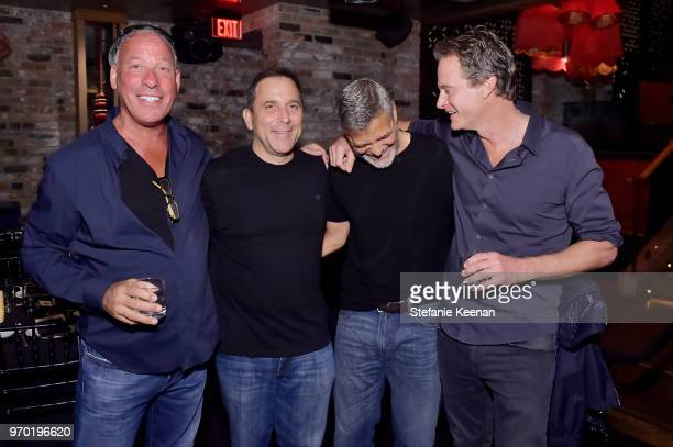 Lee Einsidler Mike Meldman George Clooney and Rande Gerber at the Casamigos House of Friends Dinner on June 8 2018 in Hollywood California