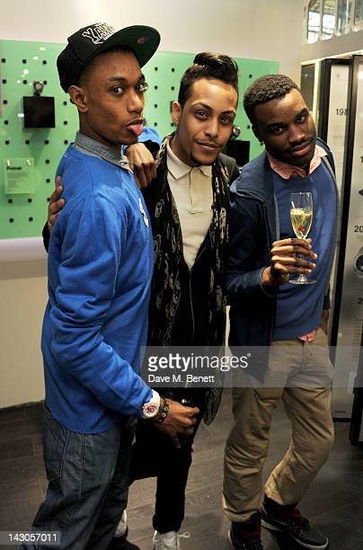 Lee Elias Bambi and Jaiden James attend the launch of Casio London's Global Concept Store in Covent Garden Piazza on April 18 2012 in London England