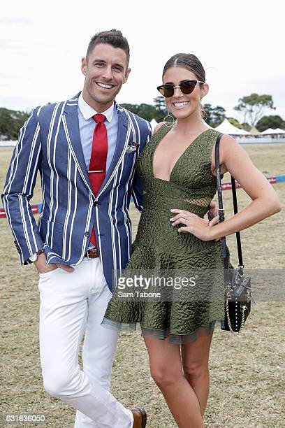 Lee Elliot and Georgia Love attend Portsea Polo on January 14 2017 in Melbourne Australia