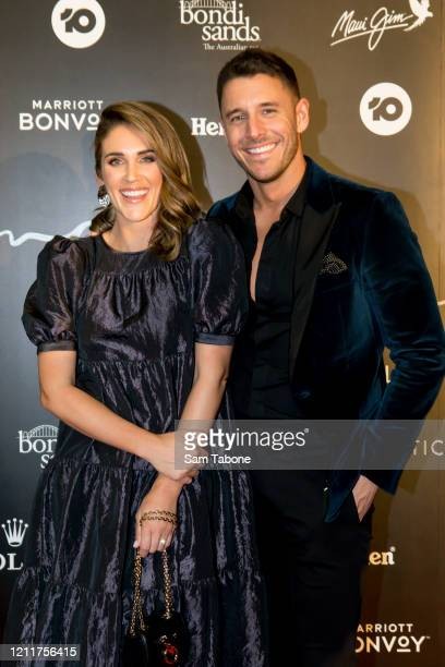 Lee Elliott and Georgia Love attends the Glamour On The Grid party on March 11 2020 in Melbourne Australia