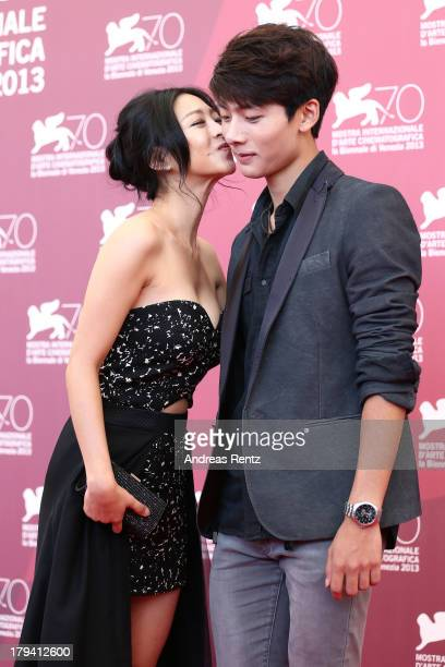 Lee EunWoo and Suh Yeong Ju attends 'Moebius' Photocall during the 70th Venice International Film Festival at Palazzo del Casino on September 3 2013...