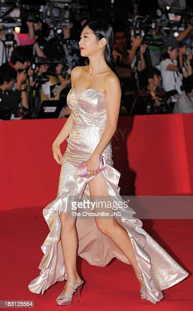 Lee EunWoo arrives for the opening ceremony of the 18th Busan International Film Festival at Busan Cinema Center on October 3 2013 in Busan South...