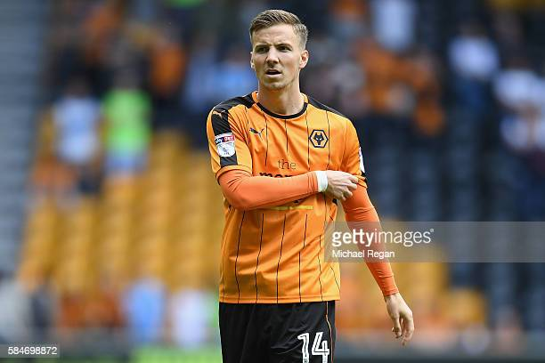 Lee Evans of Wolves in action during the friendly match between Wolverhampton Wanderers and Swansea City at Molineux on July 30 2016 in Wolverhampton...