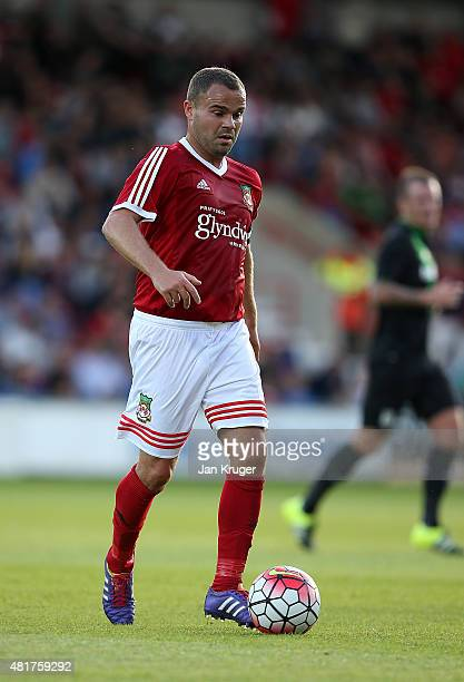 Lee Fowler of Wrexham during the pre season friendly match between Wrexham and Stoke City at Racecourse Ground on July 22 2015 in Wrexham Wales