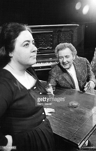 OCT 30 1972 NOV 1 1972 NOV 5 1972 Lee Gallup and James Mills exchange confidences in a scene from Brendan Behan's The Hostage opening Thursday at the...