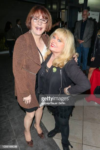 Lee Garlington and Sally Struthers are seen on November 07, 2018 in Los Angeles, California.