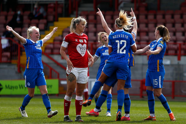 GBR: Brighton & Hove Albion Women v Bristol City Women - Barclays FA Women's Super League