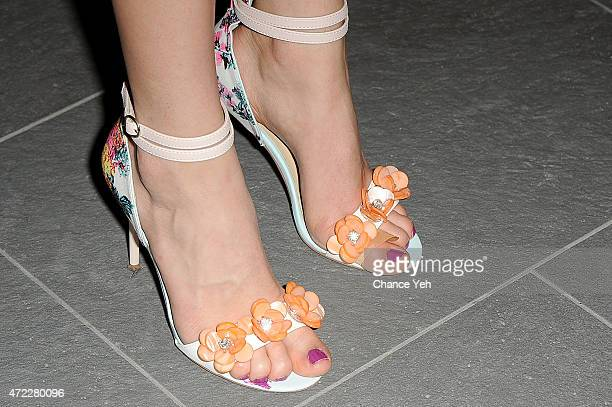 Lee Graham, shoe detail, attends Wellness In The Schools 10th Anniversary Gala at Riverpark on May 5, 2015 in New York City.
