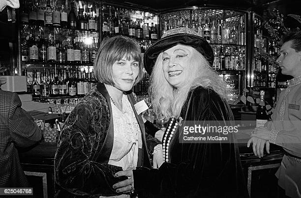 Lee Grant and Sylvia Miles attend the nominees luncheon for 65th Annual Academy Awards on March 23, 1993 at the Russian Tea Room in New York City,...