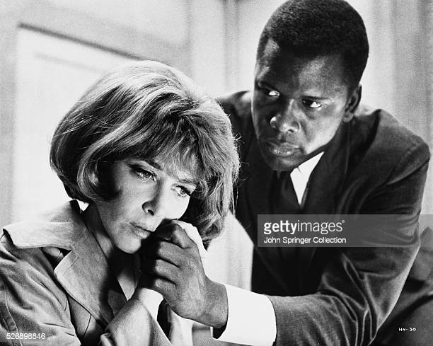 Lee Grant as Leslie Colbert and Sidney Poitier as police detective Virgil Tibbs in the 1967 film In the Heat of the Night