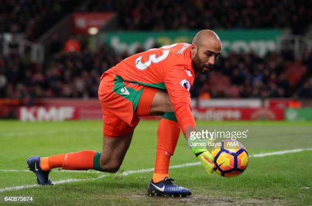 Lee Grant of Stoke City during the Premier League match between Stoke City and Everton at Bet365 Stadium on February 1 2017 in Stoke on Trent England