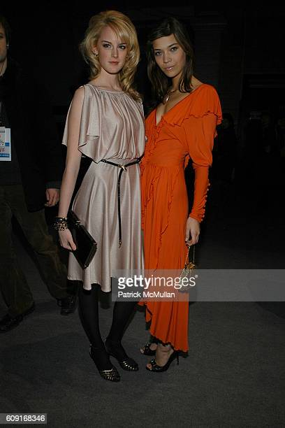Lee Greene and Tina Marie Clark attend MARC JACOBS Fall 2007 Collection at The Armory on February 5 2007 in New York City