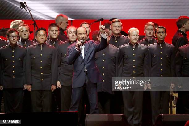Lee Greenwood performs in concert during the Deep From The Heart One America Appeal Concert at Reed Arena on October 21 2017 in College Station Texas