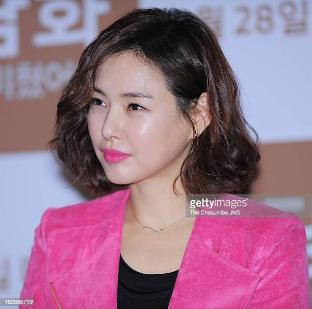 Lee Ha-Nui attends the 'Behind The Camera' press conference at Wangsimni CGV on February 21, 2013 in Seoul, South Korea.