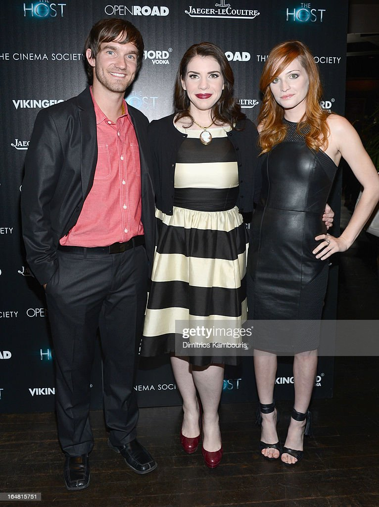 Lee Hardee, Stephenie Meyer and Raeden Greer attend The Cinema Society and Jaeger-LeCoultre screening of Open Road Films' 'The Host' at Tribeca Grand Hotel on March 27, 2013 in New York City.