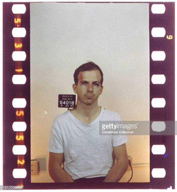 Lee Harvey Oswald mugshot on November 23 1963
