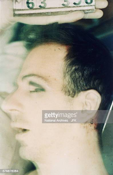 Lee Harvey Oswald postautopsy viewed through body bag