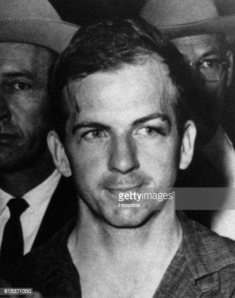 Lee Harvey Oswald who was arrested on November 22 on charges of assassinating President John F Kennedy and murdering a Dallas police officer