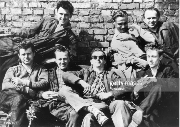 Lee Harvey Oswald with friends in Minsk Russia circa 1950s