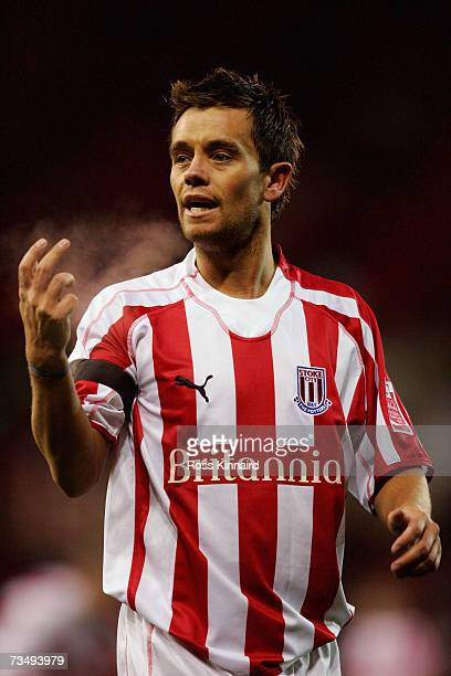 Lee Hendrie of Stoke during the Cocacola Championship match between Stoke City and Barnsley at the Britannia Stadium on February 26 2007 in Stoke...