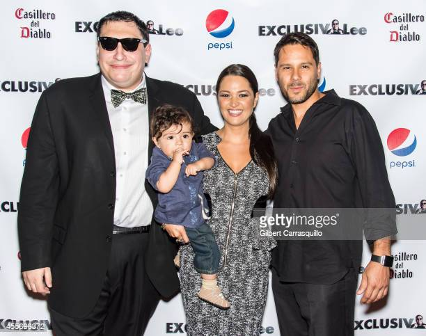 Lee Hernandez, actress Paula Garces her son Antonio Andres Hernandez and husband Antonio Hernandez attend the New York Launch party for...