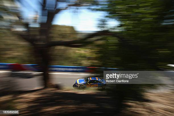 Lee Holdsworth drives the Irwin Racing Mercedes during practice for the Bathurst 1000 which is round 11 of the V8 Supercars Championship Series at...