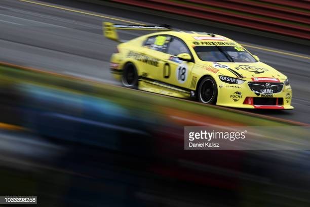 Lee Holdsworth drives the Preston Hire Racing Holden Commodore ZB during practice for the Supercars Sandown 500 at Sandown International Motor...