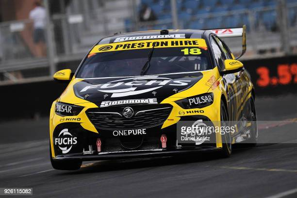 Lee Holdsworth drives the Preston Hire Racing Holden Commodore ZB during qualifying for Supercars Adelaide 500 on March 2 2018 in Adelaide Australia